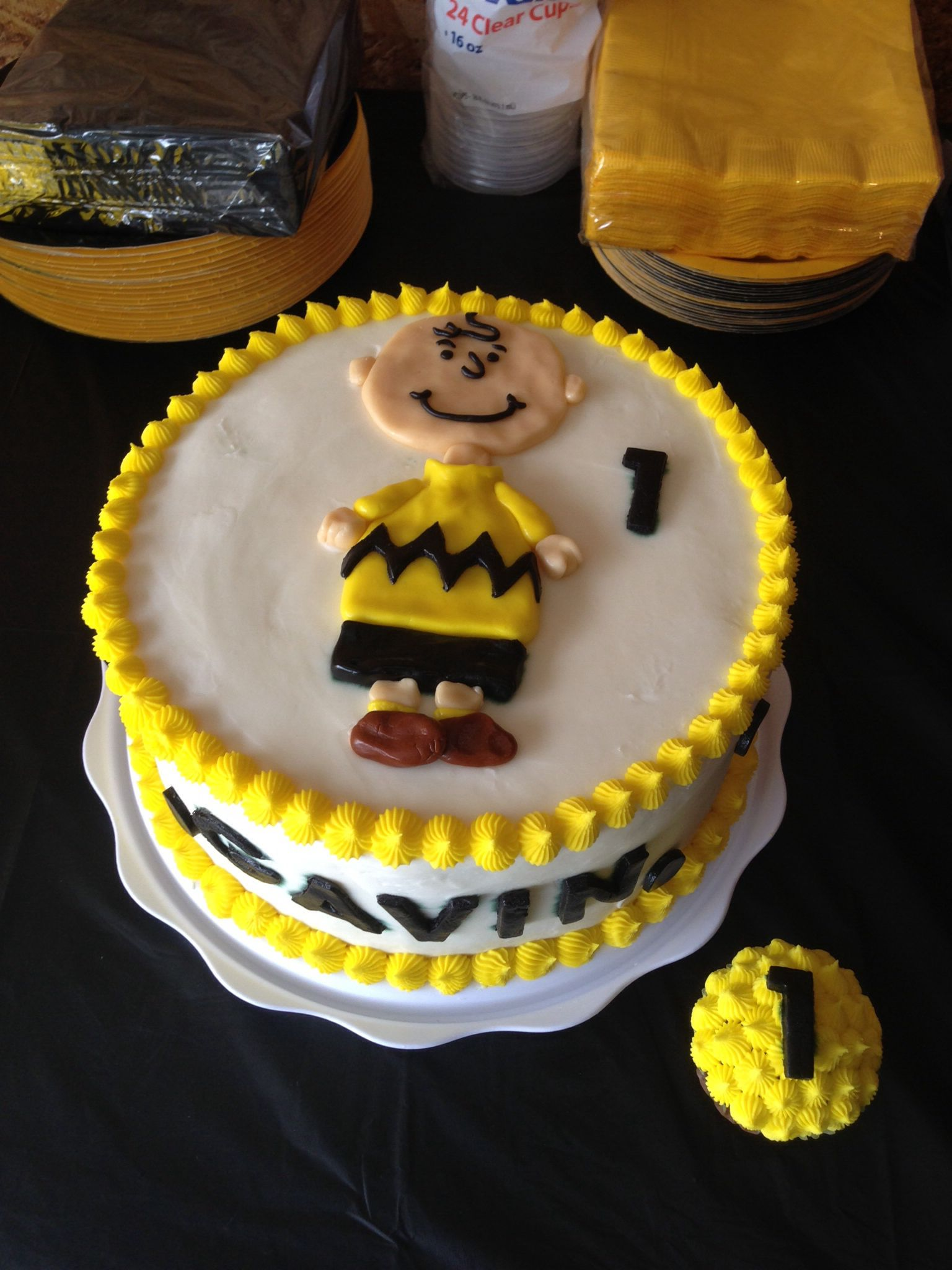 Charlie Brown Birthday Cake From Sugar On Top Bakery Check Us Out
