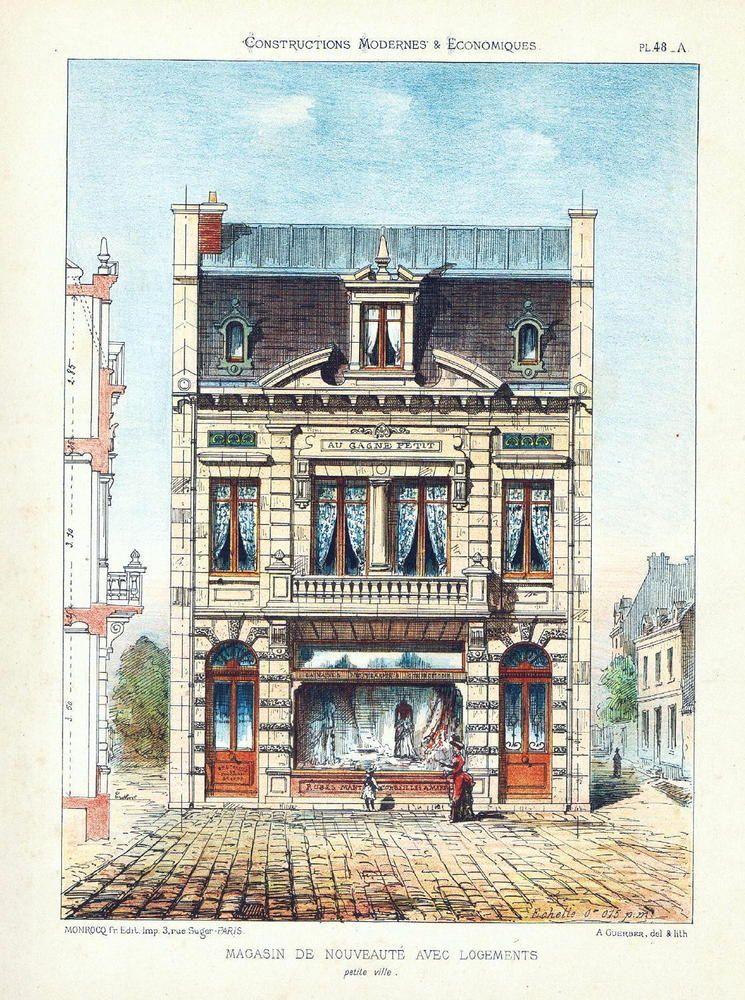 1860 4 print fashion shop house in paris architecture lithograph 1860 4 print fashion shop house in paris architecture lithograph blueprint malvernweather Image collections
