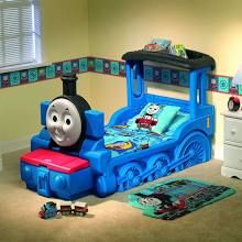 Thomas Toddler Bed With Attached Toy Box And Shelf Toddler Bed