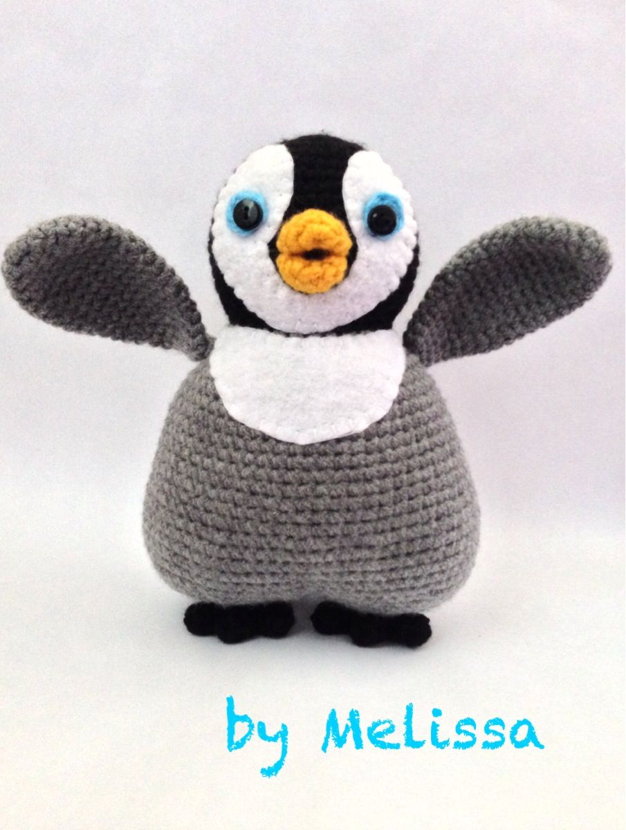 Amigurumi penguin: Inspired by Mumble from Happy Feet   Projects to ...