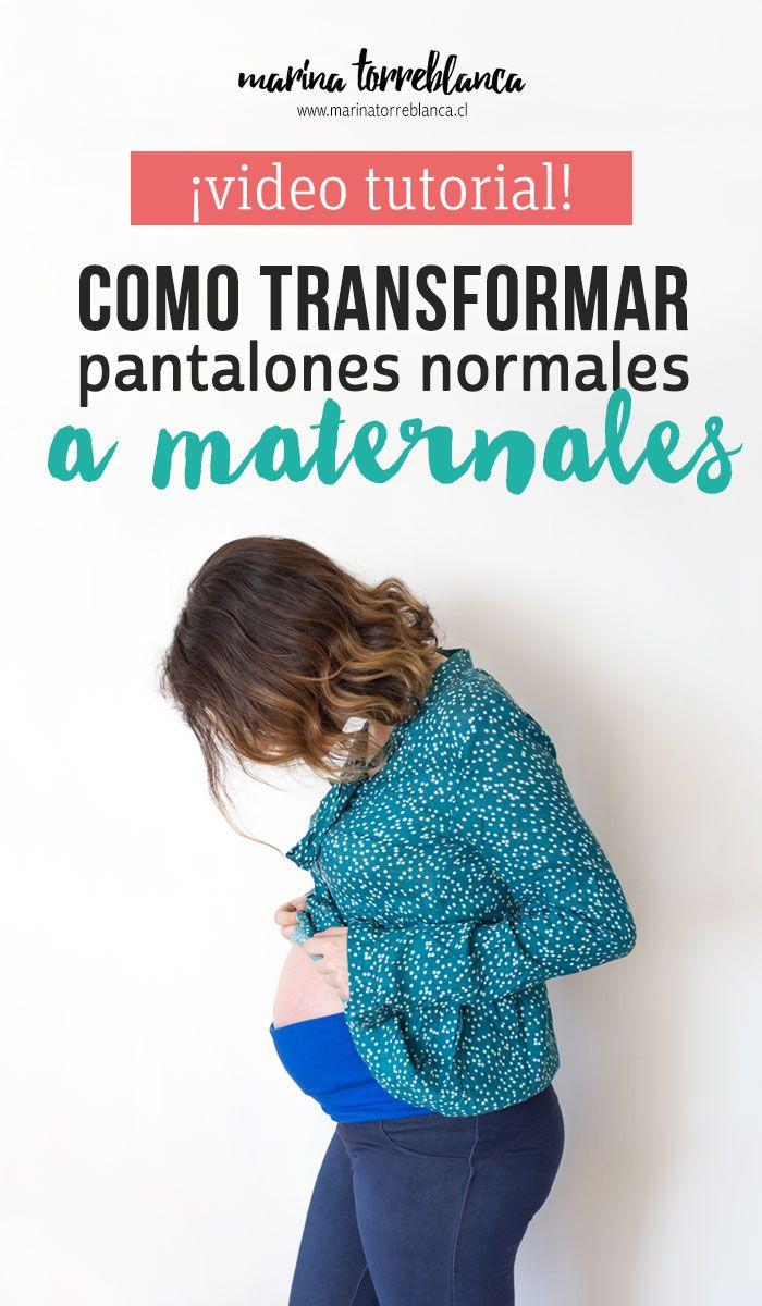 0cc14fa57 Como transformar pantalones normales a maternales