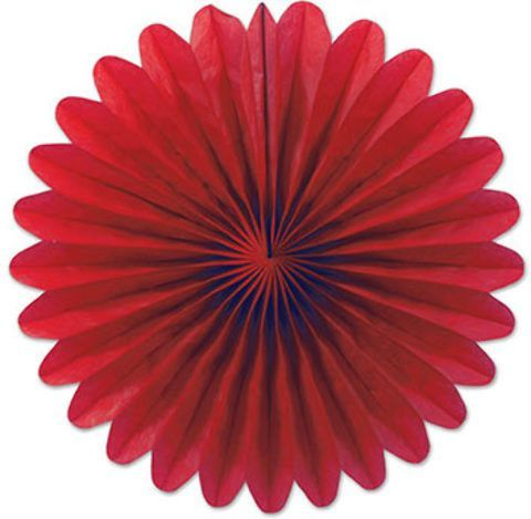 mini tissue fans (red) Case of 12