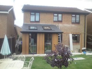 Garden room extension my paf porch ideas pinterest for Garden room extension interior