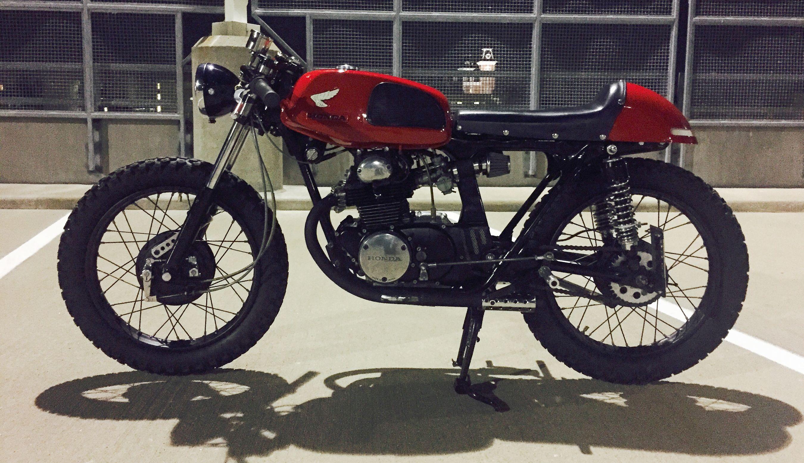 My 1972 Honda Cb175 Cafe Racer Moi