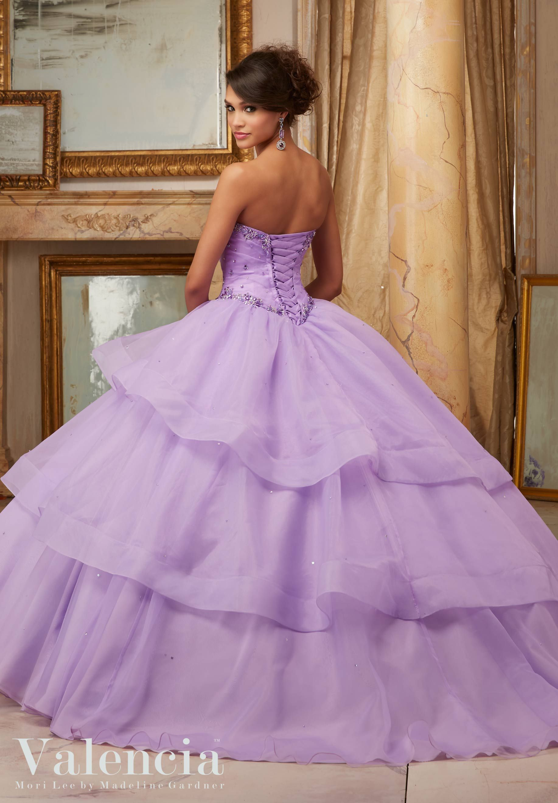 White and purple quinceanera dresses exclusive photo