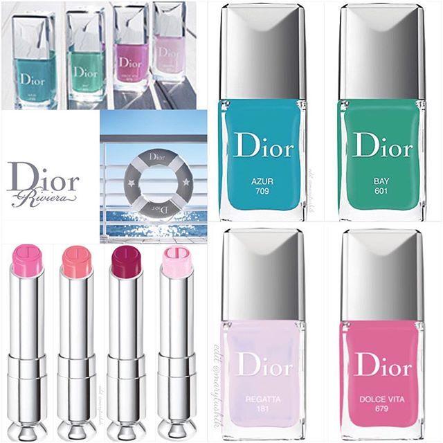 Еще одна летняя, круизная коллекция Dior Riviera 2016, состоящая из 4 лаков и помад. #diorbeauty #diormakeup #diorriviera #dioraddict
