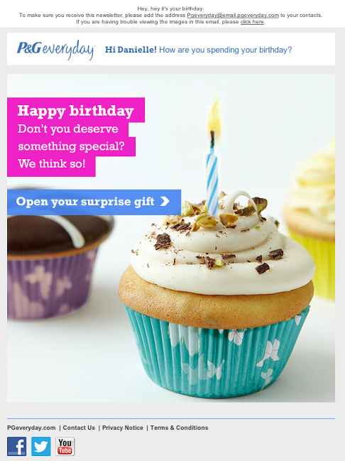 PG Everyday Birthday Email June 2014 Marketing Newsletters Cards