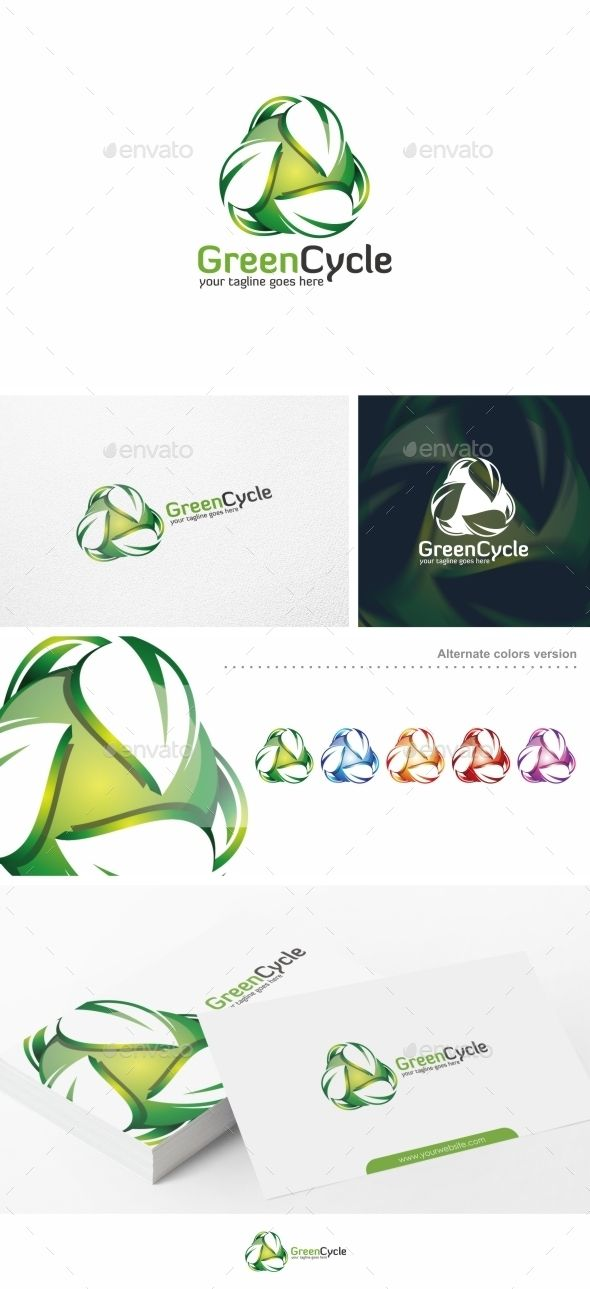 Green Cycle / Leaf  - Logo Design Template Vector #logotype Download it here: http://graphicriver.net/item/green-cycle-leaf-logo-template/10663287?s_rank=1171?ref=nexion