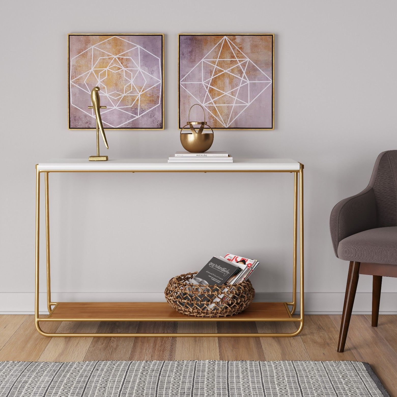 Sayer Console Table White Project 62 Console Table Living Room Spaces Tv Console Table