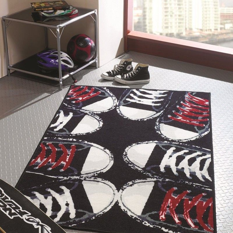 tapis chambre ado sneakers flair rugs