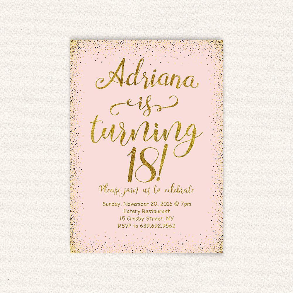 18th Birthday InvitationPrintable Purple White Birthday – Printable 18th Birthday Invitations