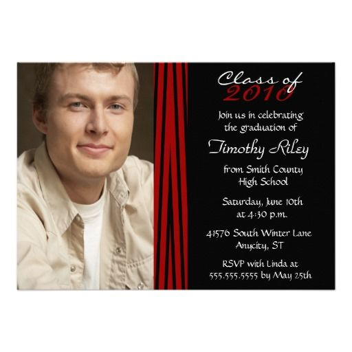 2012 Zebra print stylish graduation party invite