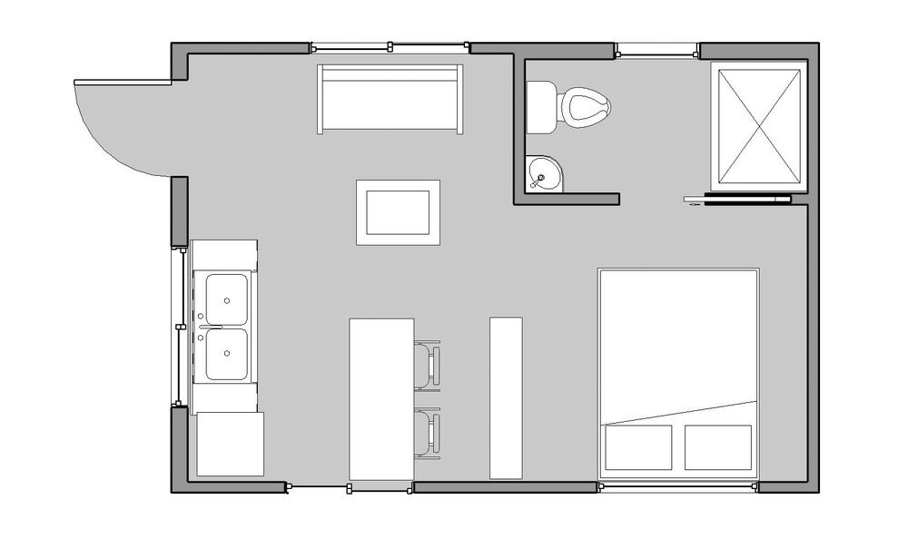 Pin By Carolyn Elkins On Doors And Houses Tiny House Loft Guest House Small Tiny House Plans