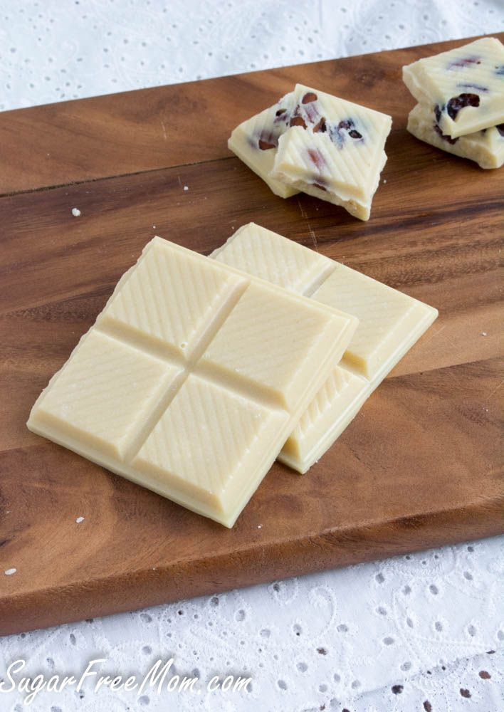 White Chocolate Bars Sugar-Free White Chocolate is a simple recipe that's low carb, gluten free and needs just a few ingredients to prepare in under 10 minutes. <em class=short_underline>  </em> When all you have to do to prepare a recipe is melt something, whisk something then pour it into molds to make it look beautiful, I'm all