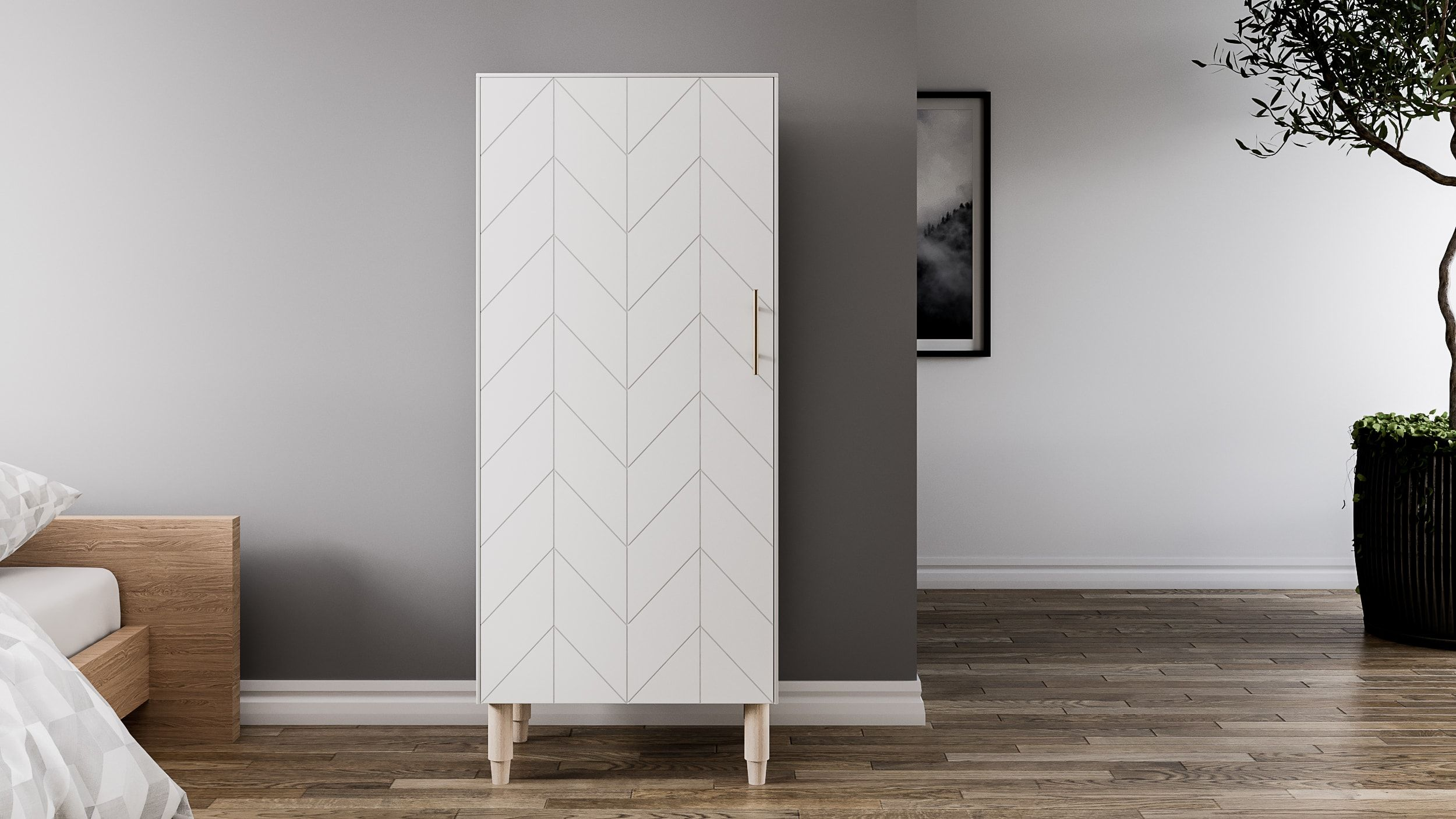 Storage cabinet Eleanor in color White Lace by Norse Interiors ...