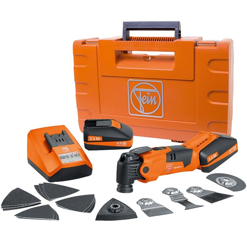 Fein Multimaster Afmm 18v Cordless Quickstart Kit W Case Oscillating Tool Multitool Oscillating Tools