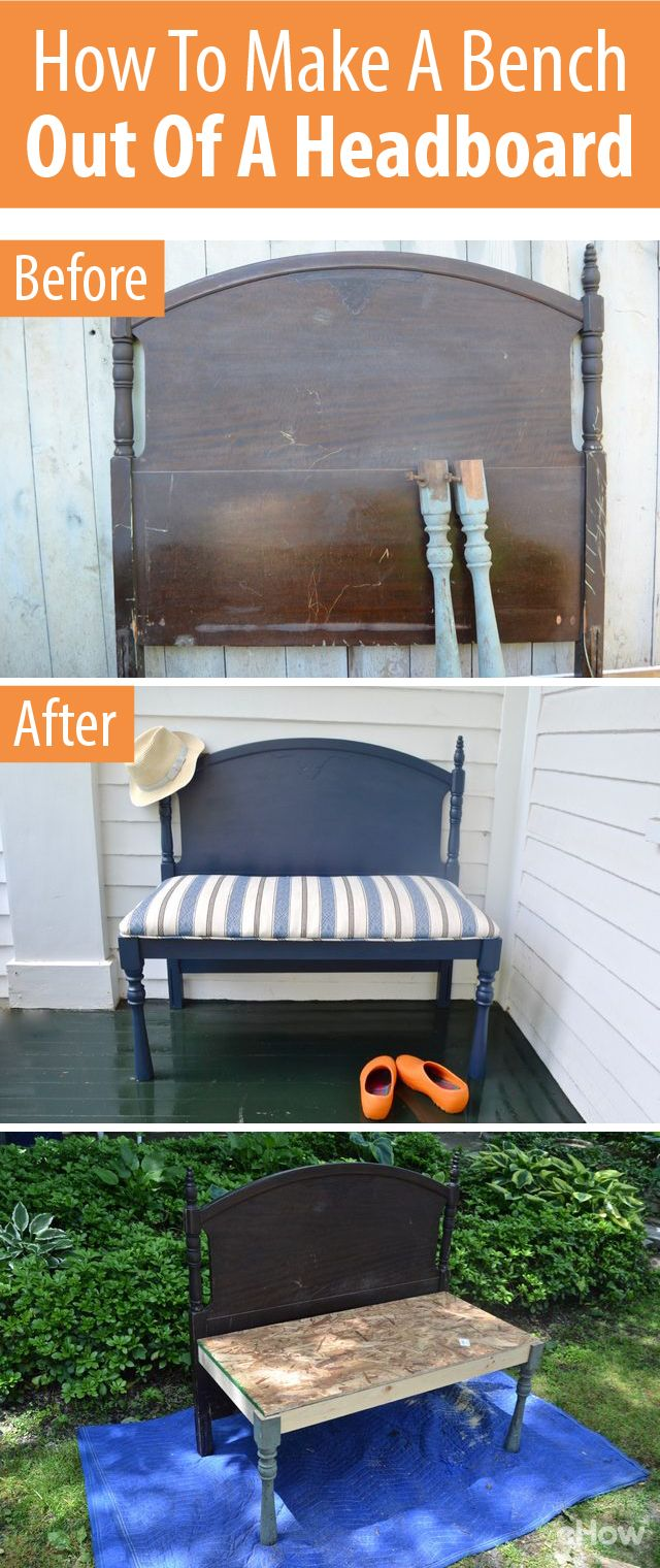 Easy Diy On How To Make A Bench Out Of A Bed Headboard