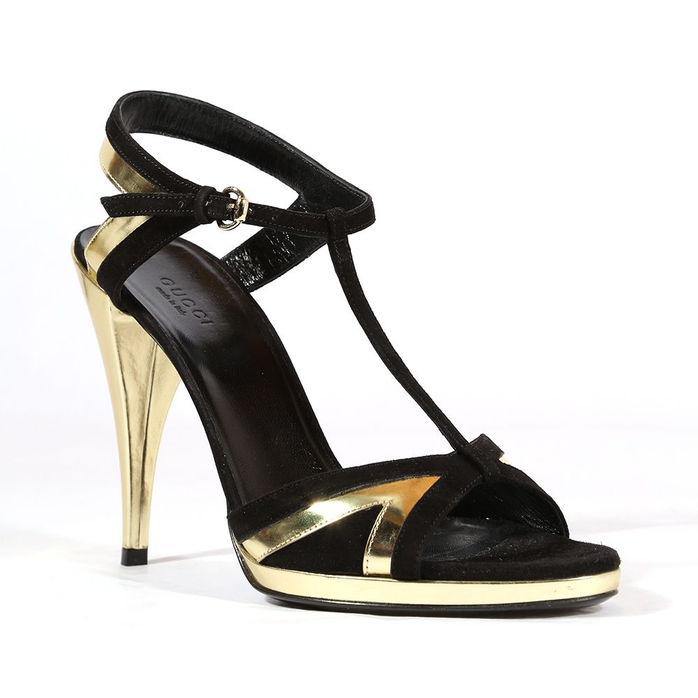 355f0e02d768aa Gucci Shoes for women Black   gold high heel designer sandals 202932  (GGW1550)