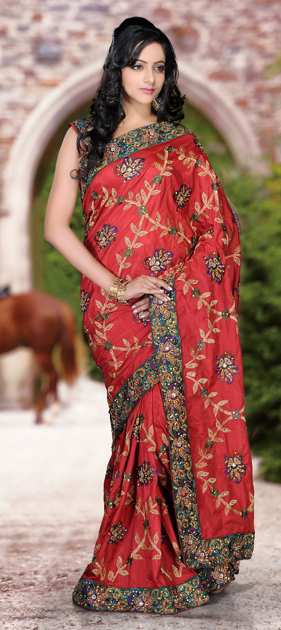 Buy Now : Rs. 6,700 /- http://www.indianweddingsaree.com/product ...