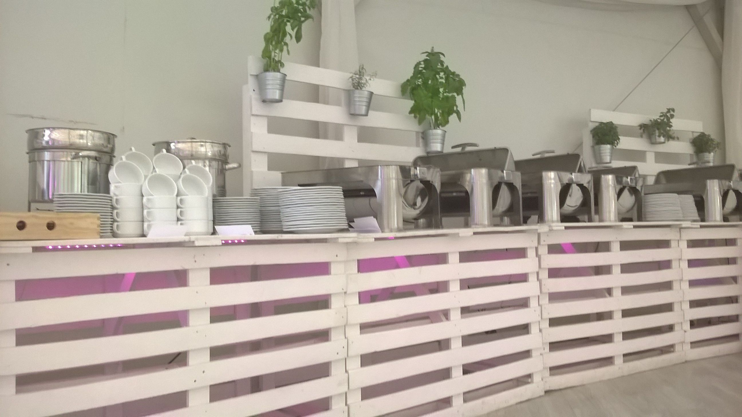 Recycled wedding installation for environmentally friendly couples