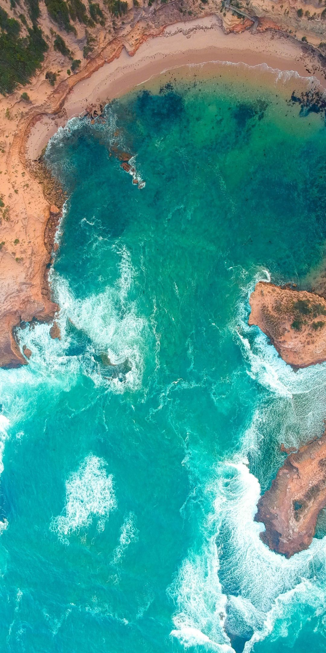 Sea Aerial View Coast Surf 1080x2160 Wallpaper In 2019