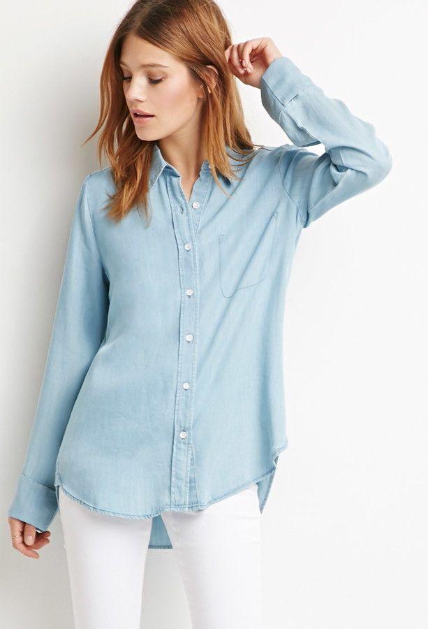 Pin By Lookastic On Denim Shirts Pinterest Denim Shirt Denim