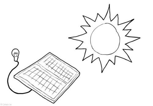 Dibujo Para Colorear Energía Solar La Energía