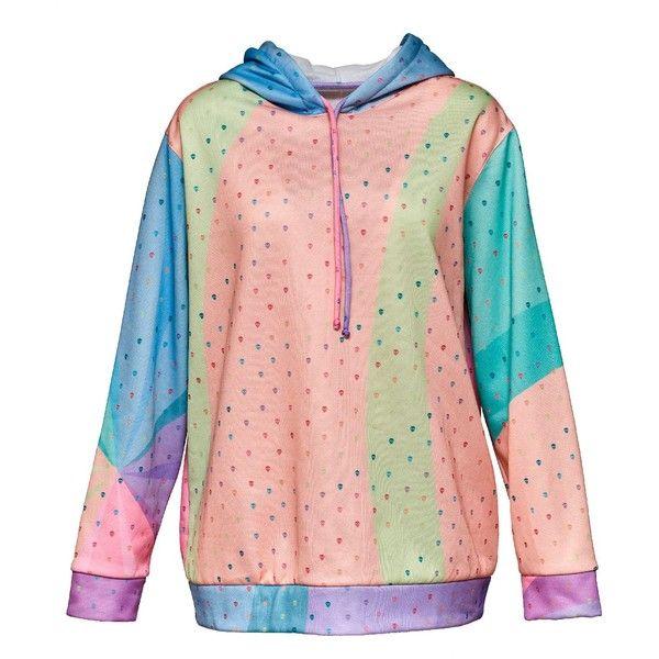 MCMA LONDON rainbow hoodie ($185) ❤ liked on Polyvore