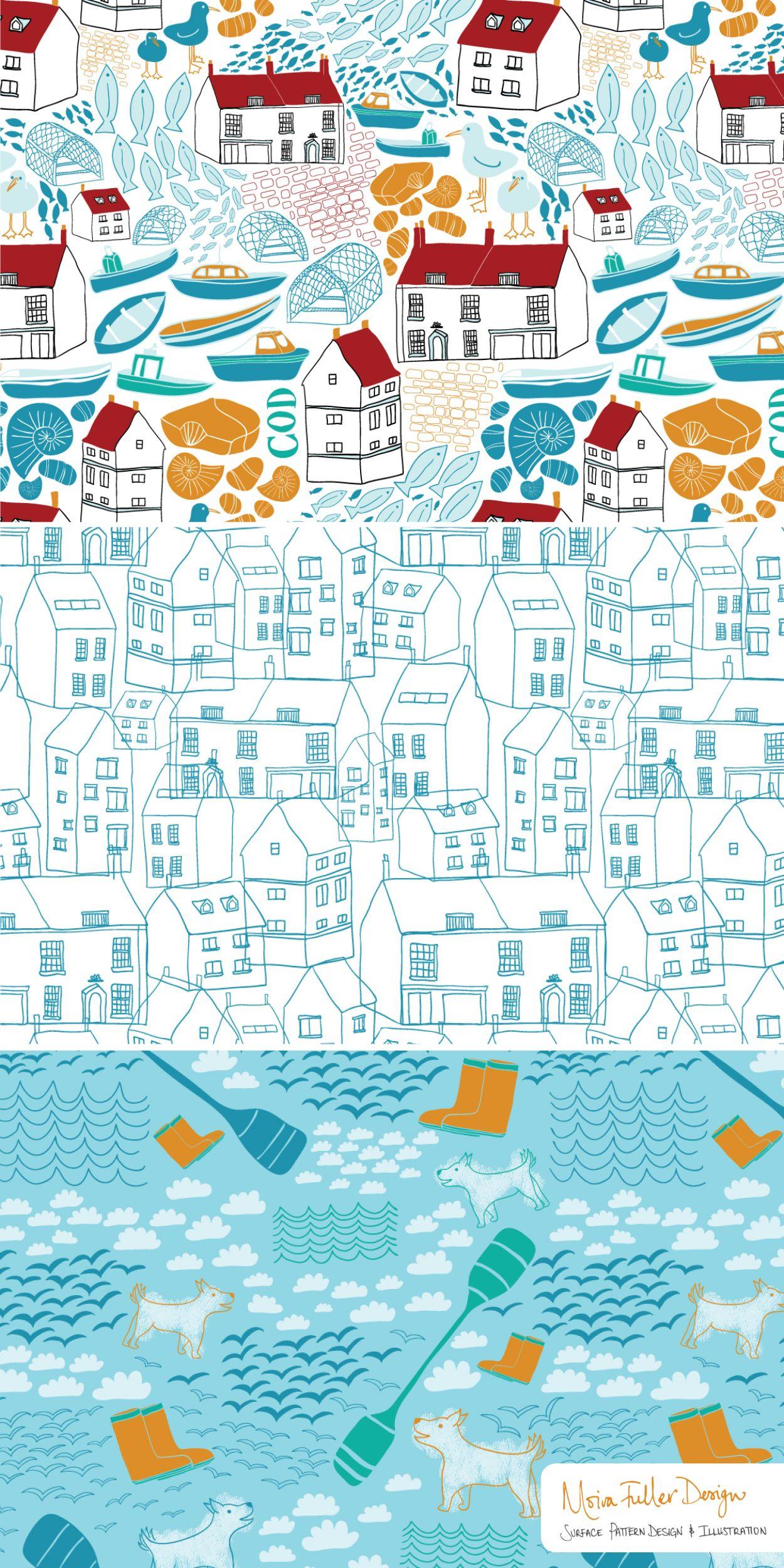 Moira Fuller - freelance surface pattern designer   Yorkshire Coast