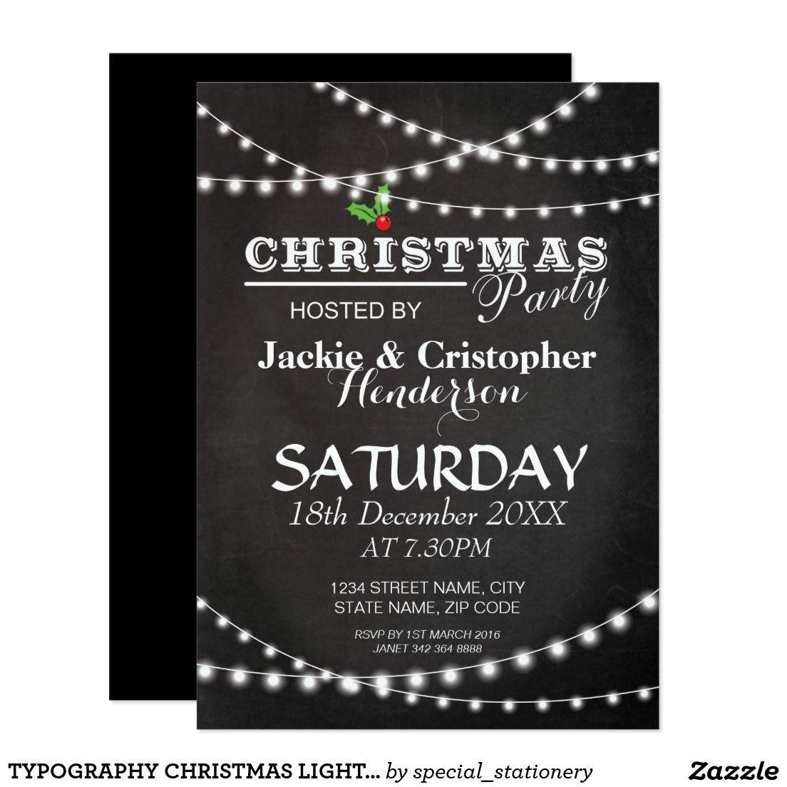 Fancy Christmas Party Invitations Illustration - Invitations Design ...