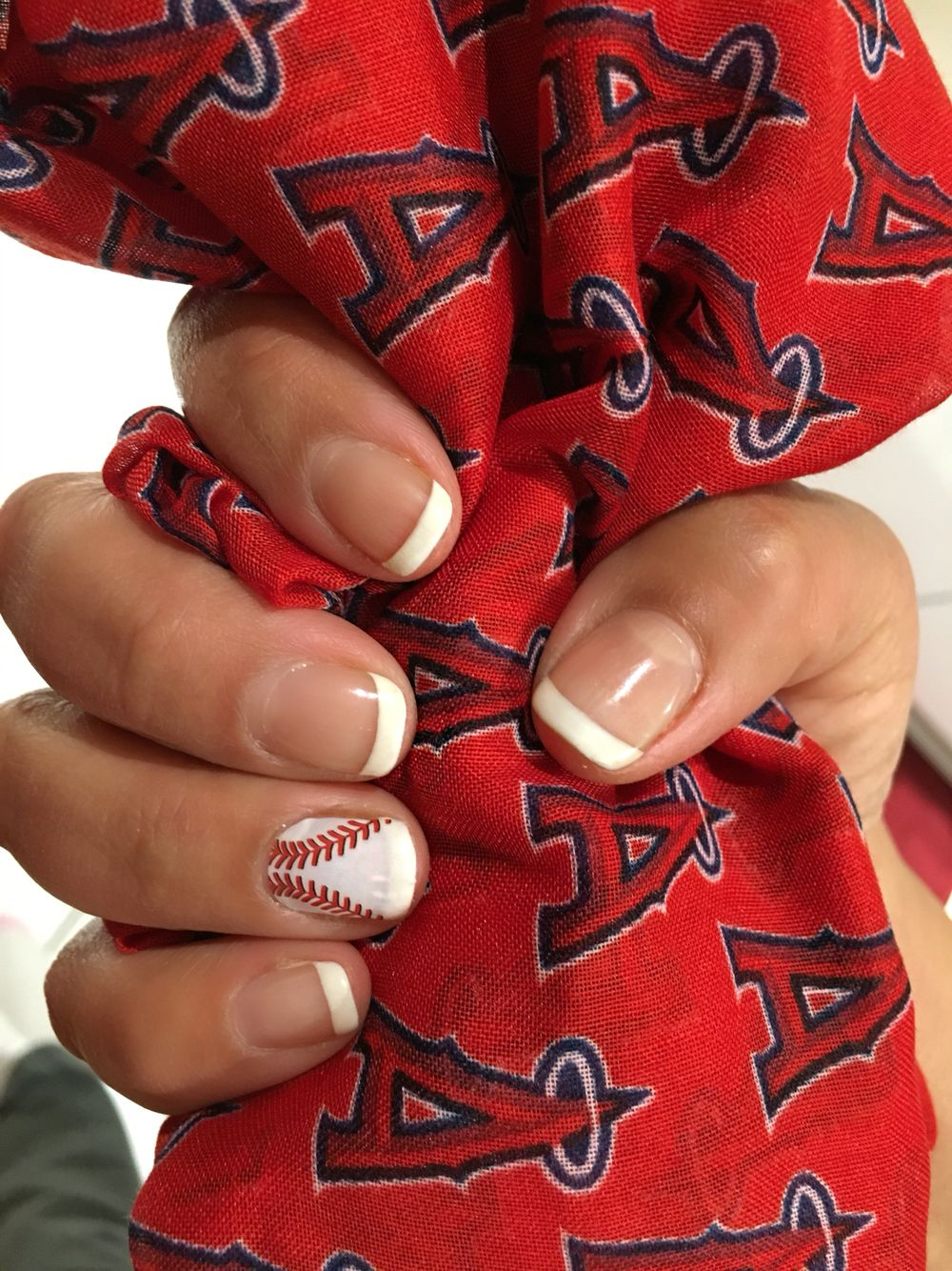 Los Angeles Angels of Anaheim- Baseball manicure ⚾ Jamberry nail ...