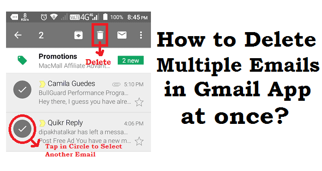 delete multiple gmail accounts