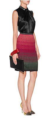Viscose-WoolBlendPatternedSkirtbyMMISSONI   Luxury fashion online   STYLEBOP.com