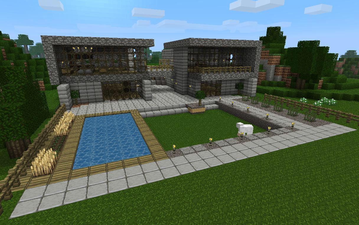 #Minecraft   Minecraft houses blueprints, Minecraft modern ...