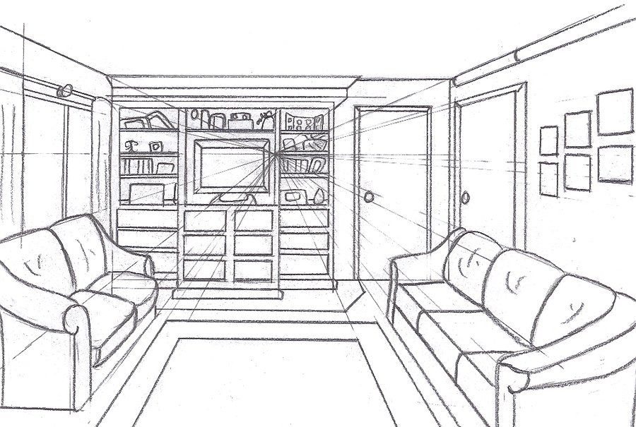 Floor Plan Drawing, Perspective Drawing, Drawing Rooms, Floor Plans, How To  Draw, Bookcases, Draw Part 26