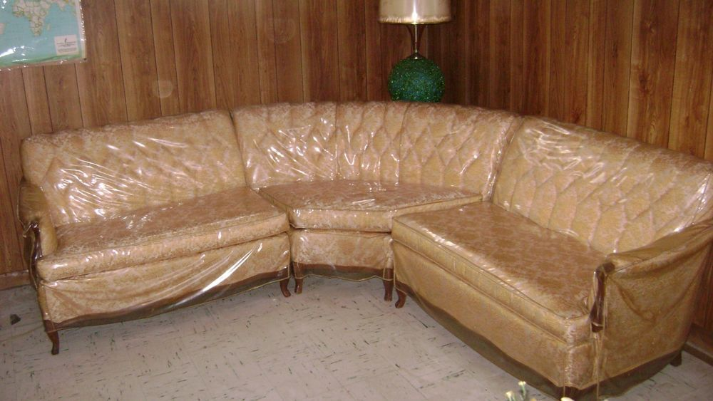 Remarkable Vintage Retro 3 Piece Sectional Couch With Custom Plastic Pdpeps Interior Chair Design Pdpepsorg