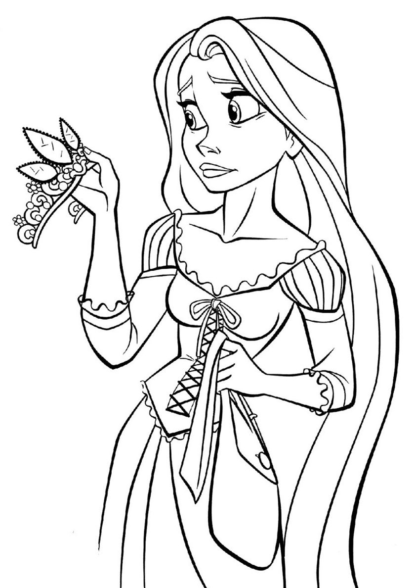 Beautiful Tiara High Quality Free Coloring From The Category Tangled More Printable Pictur Disney Prinzessin Malvorlagen Malvorlage Prinzessin Ausmalbilder