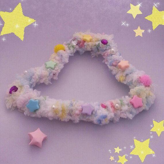 Super weiche flauschige Kawaii UFO Brosche in Pastell von CandyUFO