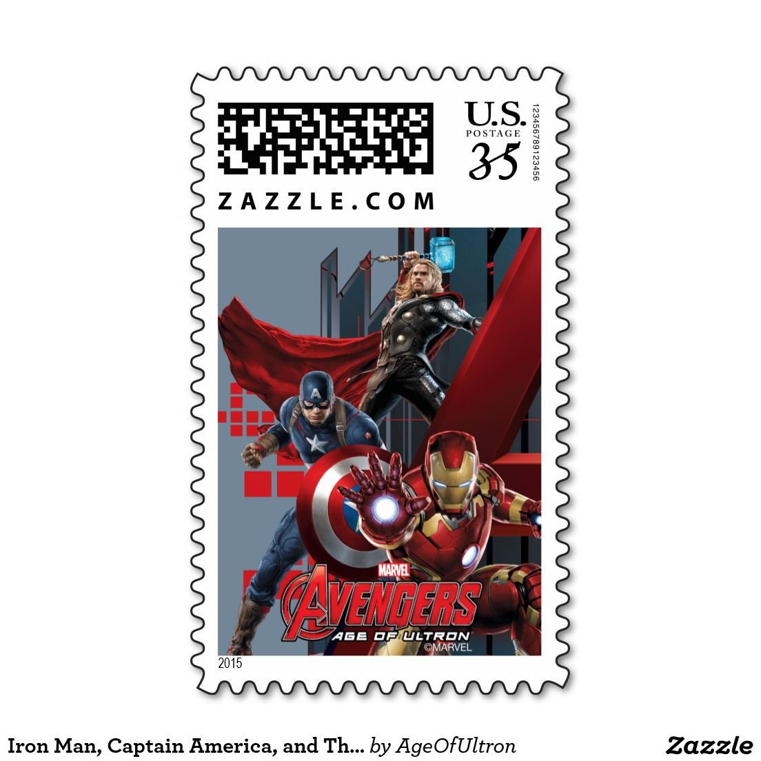 Iron Man, Captain America, and Thor Stamp | STAMPS | Pinterest