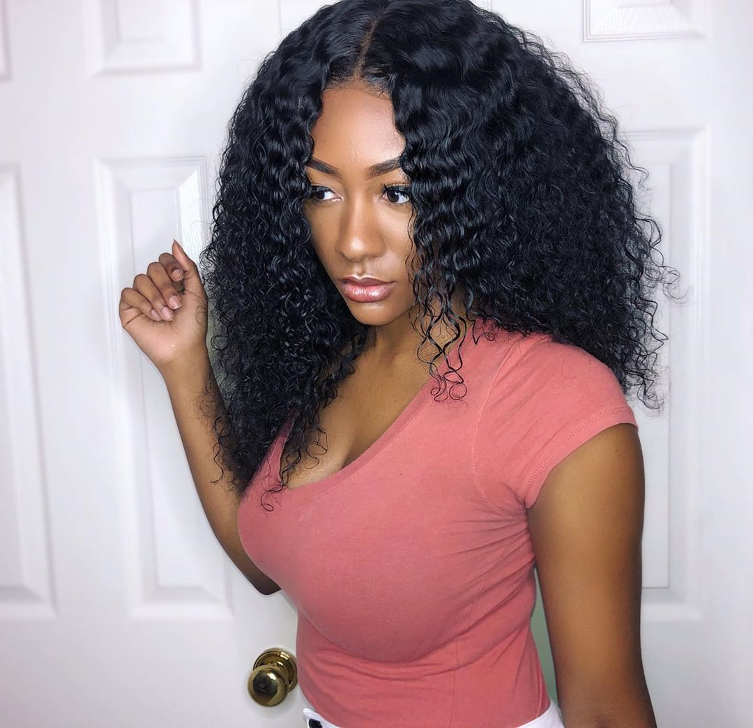 Curly hair 6x6 closure with sew in weaves 4 bundles