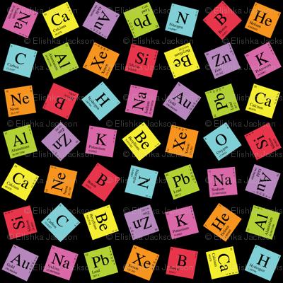 Topsy Turvy Periodic Table fabric