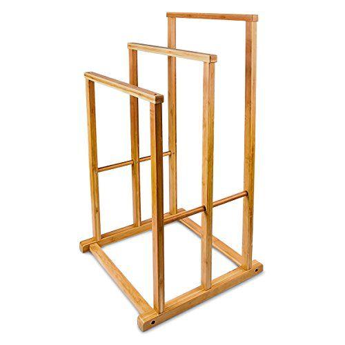 Relaxdays Bambus Handtuchständer H x B x T 80,5 x 42 x 33,5 cm - handtuchhalter für küche
