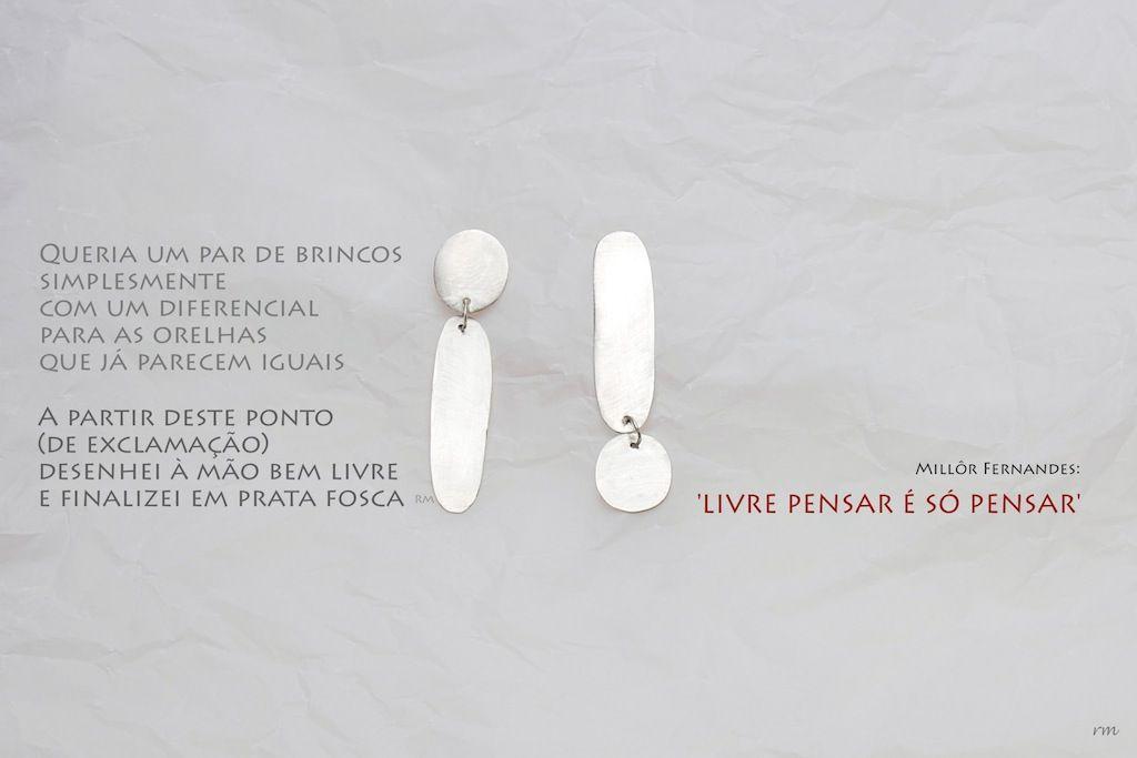 silver earrings regina menezes