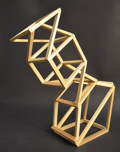 Wood Sculpture Abstract Shape