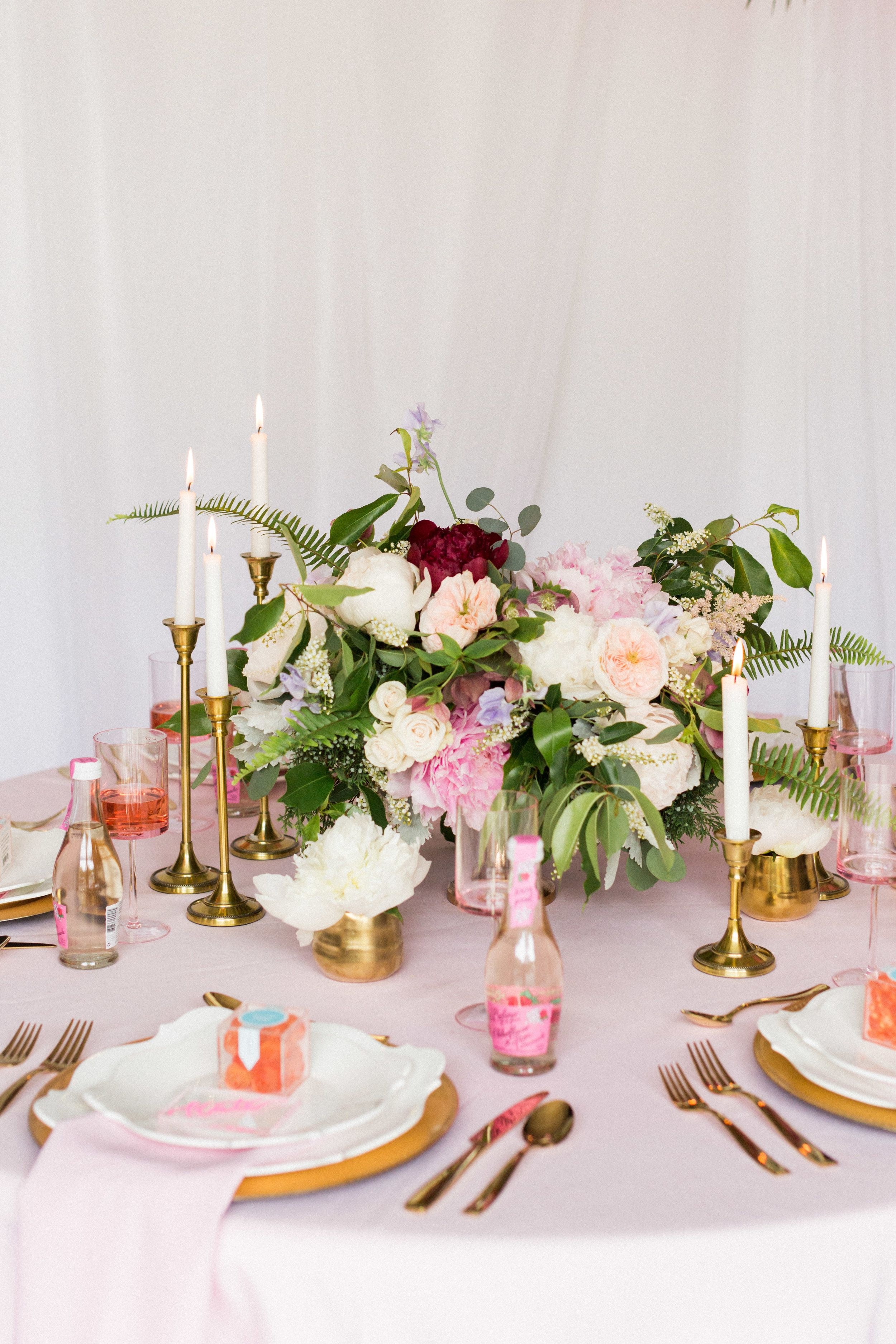 bridal luncheon pink dreams table setting and decor modern bridal rh pinterest es