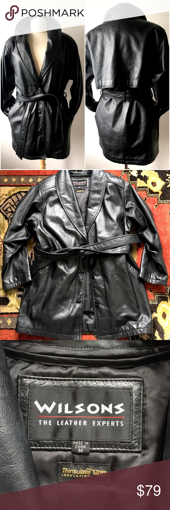 Wilson Leather Thinsulate Coat size M Wilsons leather