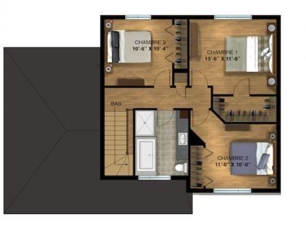Premier étage Maison Pinterest Condos and Construction - plan de maison a etage moderne