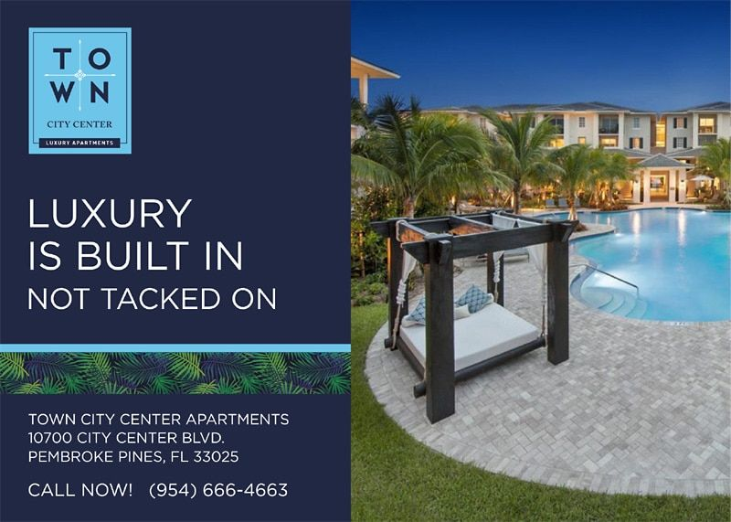 Luxury Is Built In Not Tacked On Https Apartmentspembrokepines Com Town City Center Pembroke Pines Florida Pembroke Pines City