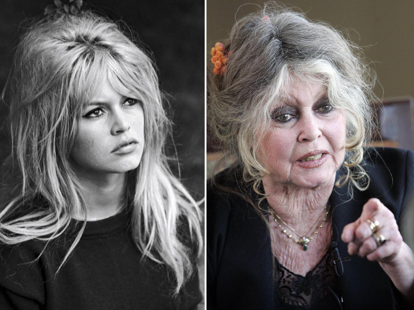 Brigitte Bardot then and now