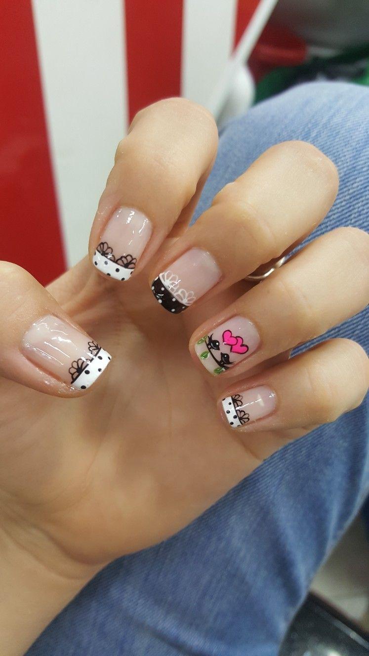 Francés. Aves. Romántico | uñas | Pinterest | Schick, Makeup und ...